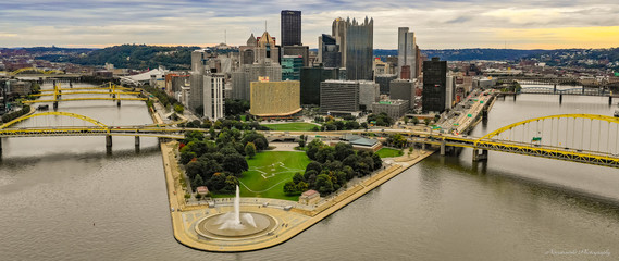 Downtown Pittsburgh Aerial View