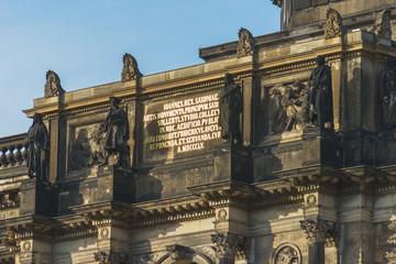 Dresden - Zwinger - Johann von Sachsen Schriftzug