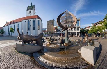 Friedrichshafen Bodensee Marktplatz Panorama
