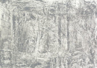 Grey and white abstract background. Handmade acrylic texture.