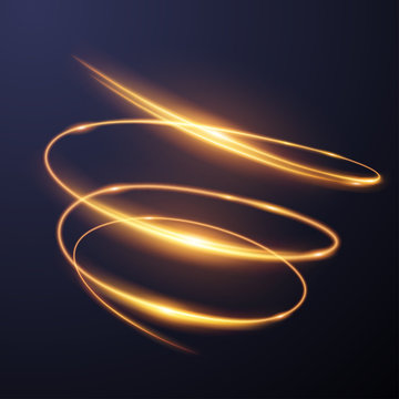 Gold light spiral effect