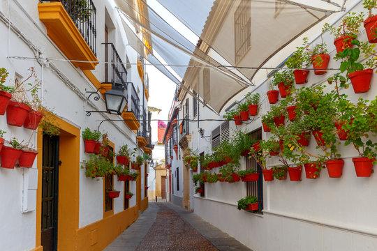 Cordoba. The old narrow city street.