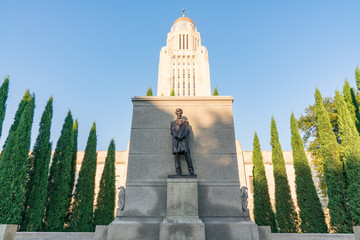 Lincoln Statue at the Nebraska Capitol Building Wall mural