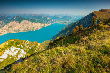 Wall Mural - Fantastic Lake Garda view from the Baldo mountains, Italy, Europe