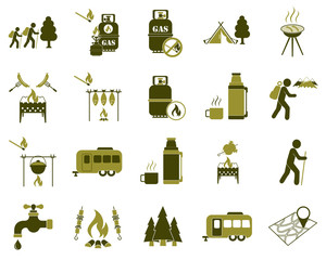 Set of tourism services icons