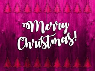 Fototapeta wesołych świąt oraz szczęśliwego nowego roku na czerwonym tle z desek obraz