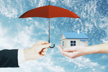 Mortgage and insurance concept