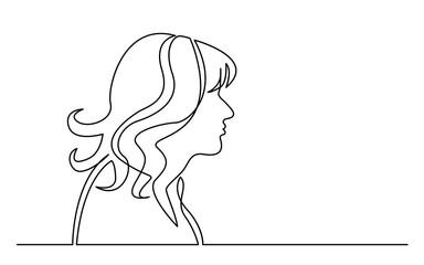profile portrait of surprized woman