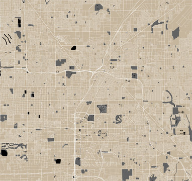 map of the city of Las Vegas, Nevada, USA