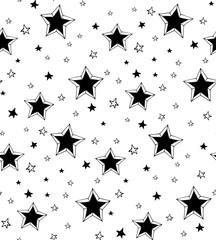 Seamless pattern hand-drawn stars.