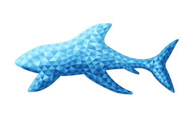 Vector design of shark in low poly style.