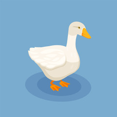 Goose Isometric Poster