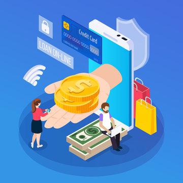 Online Lending Isometric Composition