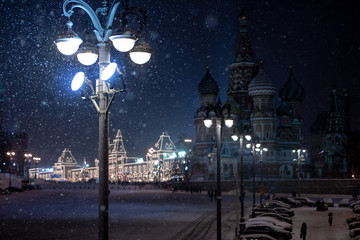 city at night (Moscow, Red Square)
