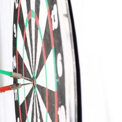 arrows in the center of the target.Darts
