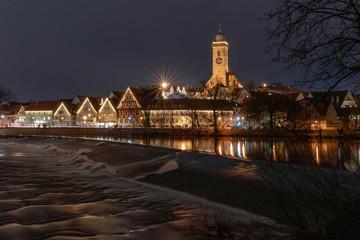 Advent in Nürtingen am Neckar mit Weihnachtsbeleuchtung