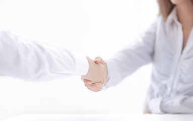 background image of handshake of business partners.close up