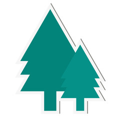 Tree isolated on white background. Spruce. Vector illustration.