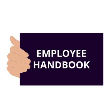 Conceptual writing showing Employee Handbook.