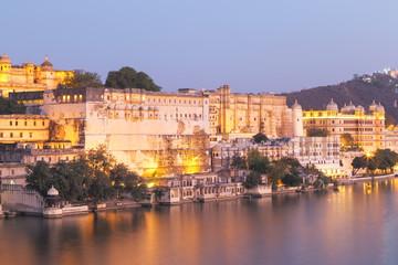 Keuken foto achterwand Havana Udaipur City Palace in Rajasthan state of India