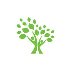 human family tree logo vector