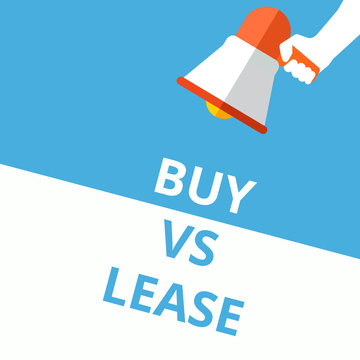 Word writing text Buy Vs Lease.