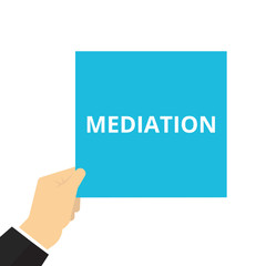 Writing note showing Mediation.
