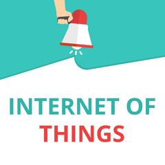 Text sign showing Internet Of Things.
