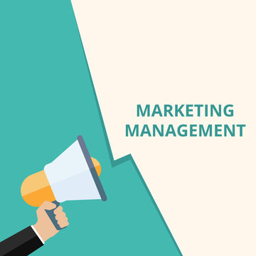 Conceptual writing showing Marketing Management.