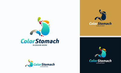 Stomach Logo designs, Colorful Stomach logo designs concept vector