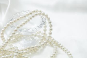 真珠の宝石(背景用,デザイン用)