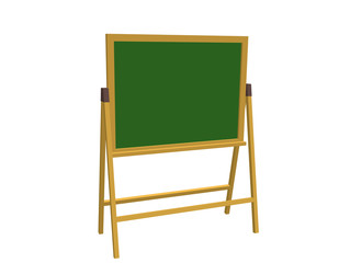 Empty chalkboard. Isolated on white background. 3d Vector illustration