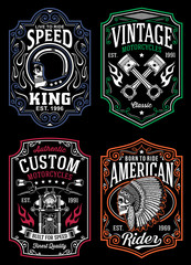Vintage Motorcycle T-shirt Graphic Collection