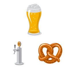 Vector illustration of pub and bar icon. Collection of pub and interior stock symbol for web.