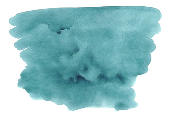 Sea blue beautiful abstract watercolor art hand paint on white background, paper textures for logo.