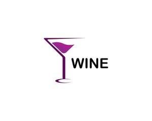 Wine logo design template. Vector illustration of icon - Vector