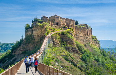 Photo sur Plexiglas Cappuccino Civita di Bagnoregio - medieval town on the mountain.