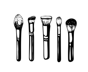 The contour brushes.Vector illustration