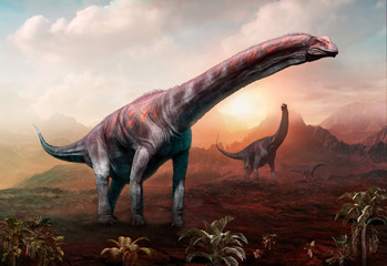 Wall Mural - Argentinosaurus 3D illustration