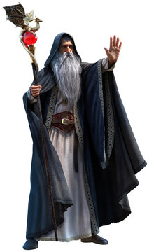 Wizard 3d illustration