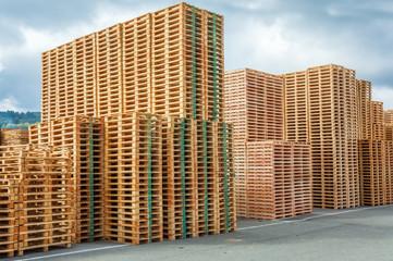 immeubles en palettes de bois