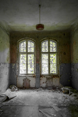 Canvas Prints Old Hospital Beelitz Ruins of Beelitz-Heilstätten Lost place Berlin Brandenburg;