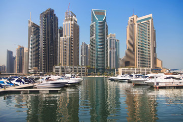 Yachts and Skyscrapers at Dubai Marina