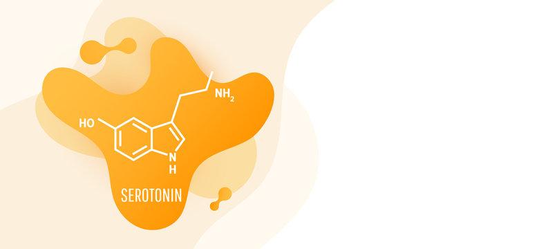 Serotonin hormone structural chemical formula