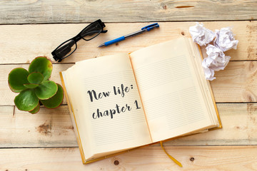 New life: chapter 1 on open notebook