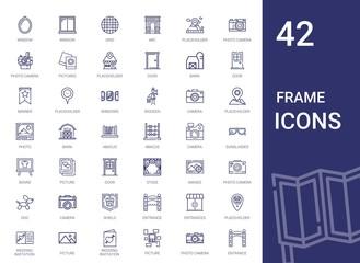 frame icons set