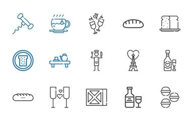 french icons set