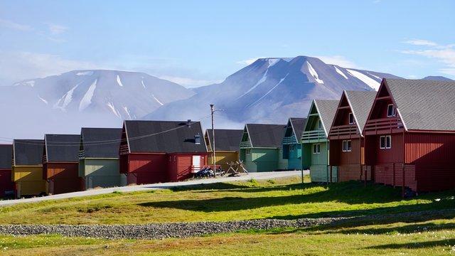 Häuser auf Spitzbergen in Longyearbyen