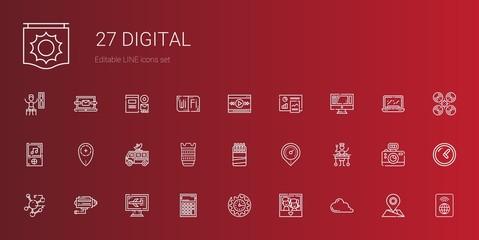 digital icons set