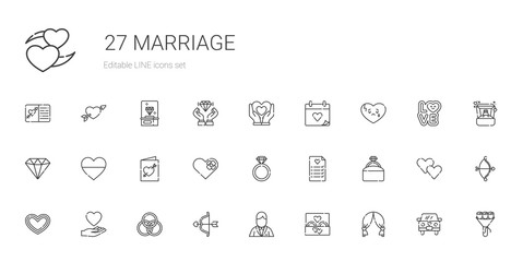 marriage icons set